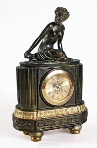 """Часы каминные """"Эфиопка""""."""